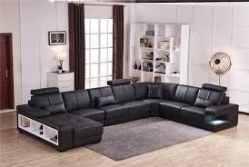 canapé cuir 7 places pouf chaise offre specail sofa sectionnel conception u forme 7