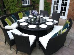 black dining table bench with white chairs marble round set images
