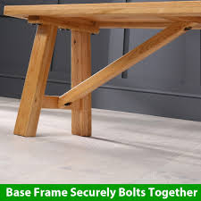 oak trestle dining table solid oak trestle dining table 1 bench 3 ladder back chairs