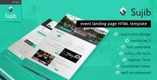 Html Event Template sujib event landing page html template by wpamanuke themeforest