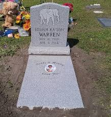 baby headstones for stokes monuments baby infant memorials