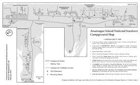 First Landing State Park Trail Map by Assateague Island Maps Npmaps Com Just Free Maps Period