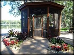 screened in gazebo with porch