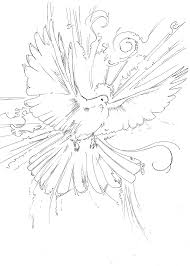 dove coloring page mourning animal free flying mintreet