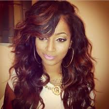 straight weave hairstyles side bangs hairstyle picture magz