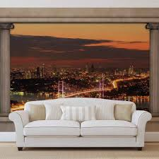 city skyline view istanbul wall paper mural buy at europosters