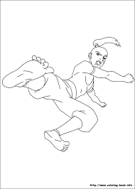 avatar airbender coloring picture color book
