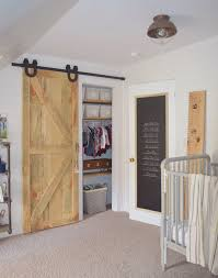 Painted Barn Doors by Nursery Makeover Chalkboard Paint On The Back Of The Door