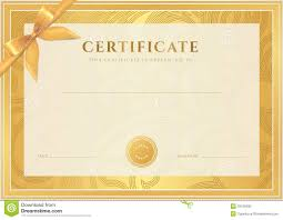 certificate diploma template gold award pattern stock photo