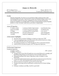 Manufacturing Manager Resume Samples by Production Manufacturing Manager Resume Socialists Birthday Cf