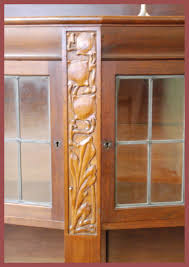 Mahogany Display Cabinets With Glass Doors by Voorhees Craftsman Mission Oak Furniture Large Liberty U0026 Co