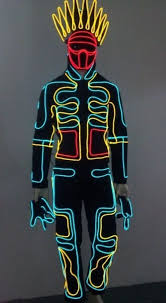 Led Light Halloween Costume 3m Battery Pack Halloween Costumes Electroluminescent El Wire