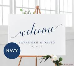 wedding welcome sign template navy wedding welcome sign template printable welcome wedding