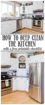 how to deep clean how to deep clean the kitchen clean and scentsible