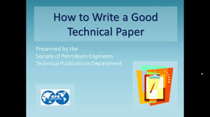 how to write a paper presentation how to write a good technical paper youtube