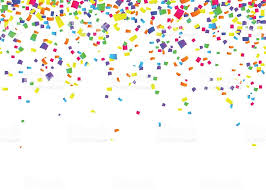 party confetti vector illustration of seamless border background with