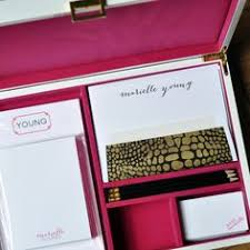 Customized Desk Accessories Grand Green Silk Stationery Box G4 Gift Ideas Pinterest