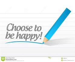 choose to be happy message illustration design stock image image
