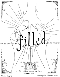 the earth will be filled habakkuk 2 14 coloring page thanksgiving