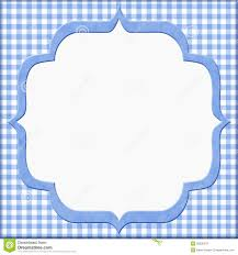 blue gingham baby frame for your message or invitation royalty