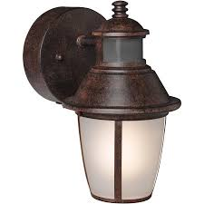 Led Security Lights Brinks Led Outdoor Wall Lantern Motion Security Light Bronze