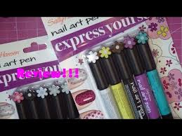 sally hansen nail art pen review youtube