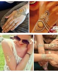 silver gold temporary metallic tattoo u2013 bracelets back jewelery