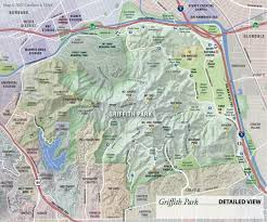 griffith park map cartifact griffith park map to the trails