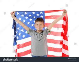Big American Flags Boy Big American Flag On White Stock Photo 446190202 Shutterstock