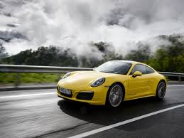 porsche yellow porsche 911 carrera yellow side view road sport cars wallpaper