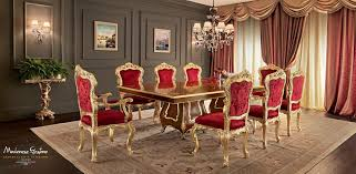 classic dining table wooden rectangular extending villa