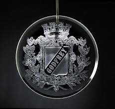 family crest personalized glass ornament engraved ornament gifts
