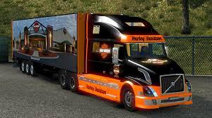 volvo commercial truck dealer volvo vnl 780 harley davidson 17 trailer 1 18 ets 2 euro truck