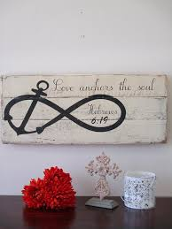 Hand Painted Love Anchors The - hand painted wood signs sharon james designs