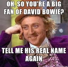Memes De David - oh so you re a big fan of david bowie meme on imgur
