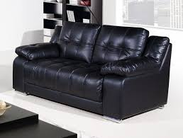 Leather Sofa Land Vancouver 2 Seater Black Leather Sofa Leather Sofa Land