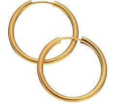 9ct gold hoop earrings buy revere 9ct gold hoop earrings at argos co uk your online