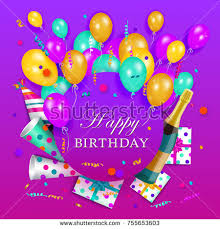 congratulatory cards vector happy birthday congratulatory card poster stock vector