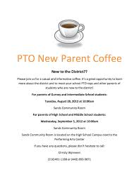 pta meeting invitation pto flyer maybe use the coffee idea as an informal get together