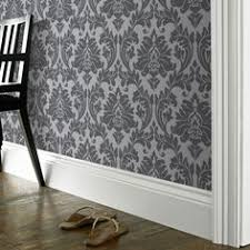ahh love the black on grey wallpaper bedroom wall here we