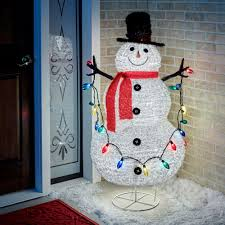 snowman curtains kitchen collapsible indoor outdoor lighted snowman figure