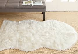 Safavieh Faux Sheepskin Rug Rug Fss115a Faux Sheep Skin Area Rugs By Safavieh