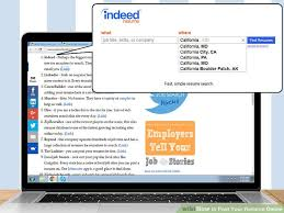 Post Resume On Indeed Jobs How To Post Your Resume Online 13 Steps With Pictures Wikihow