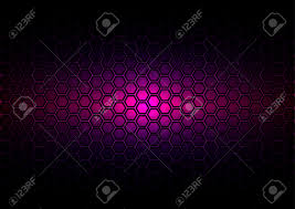 Dark Purple Colors Abstract Pattern Hexagon On Dark Purple Color Background Stock