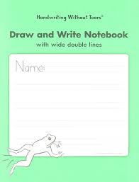 handwriting without tears daw double line wide draw and write