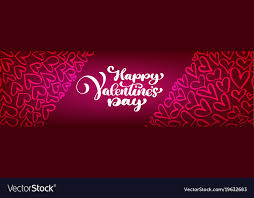 happy valentines day banner text lettering happy valentines day banners vector image