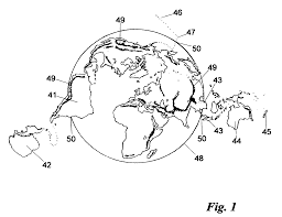 patent us7331790 map profile of the earth u0027s continents and