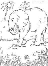 elephant jungle color free printable coloring sheets