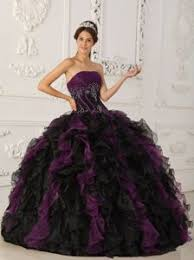 and black quinceanera dresses purple and black beaded organza quinceanera dress with ruffles