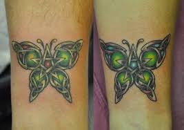 serenity celtic butterflies by timetotakeback tattoos